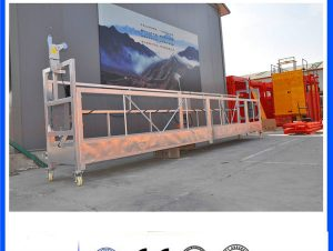 Gipaluyohan sa CE / ISO ZLP electric construction / building / external wall gisuspinde plataporma / cradle / gondola / swing stage / sky climbe