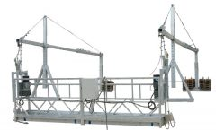 Moveable Safety Rope Gisuspenso ang Plataporma ZLP500 Uban sa Rated Capacity 500KG