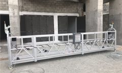 Single Phase Suspended Wire Rope Platform 800 kg 1.8 kw, Pagtaas sa Speed ​​8 -10 m / min